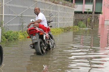 This man was relaxing on his bike in Albouystown