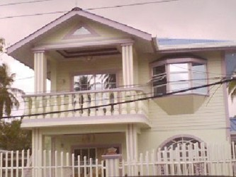 The Jeffrey family's Church Street, Annandale, East Coast Demerara home, where the shooting took place.