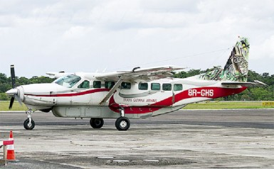 The missing plane at the Johan Adolf Pengel International Airport in Suriname in 2011. (Photo by Andrew Miller via myaviation.net)
