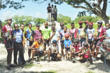 Winners and runners up for yesterday's programme at the National Park pose for a group photo. (Orlando Charles photo)