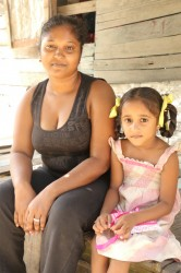 Susan Ramdas and one of her daughters.