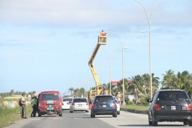 Work underway on lights along the East Coast Highway