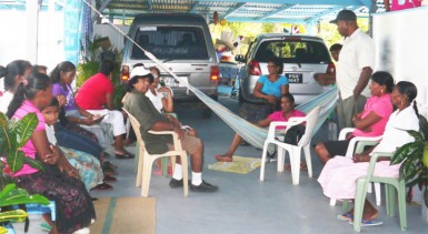 Neighbours and relatives gathered to support the Ramdeens