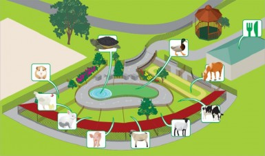 A schematic of what the petting zoo will look like (Ministry of Natural Resources)