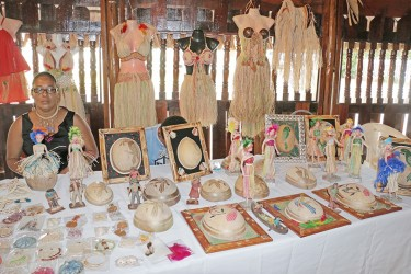 Natasha David's creative designs were on display on Saturday at the launch of the first Indigenous Restaurant at the Umana Yana.