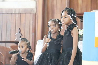 Terry Holder's granddaughters sang a tribute to him.