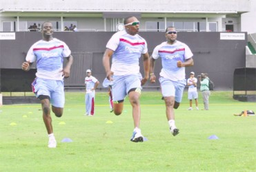 The West Indies players will be going at full speed today in an effort to defeat Ireland in the first of two T20 internationals. (WICB media photo)