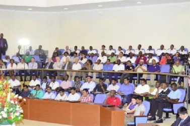 A section of the audience at the conference (GINA photo)