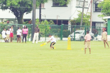 This match seemed to be a real nail-biter for supporters in the Scotiabank Kiddy Cricket match played at Thirst Park yesterday.
