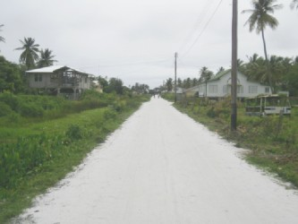 One of the streets that was restored to good condition