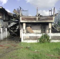 Vanessa Higgins' home after the fire