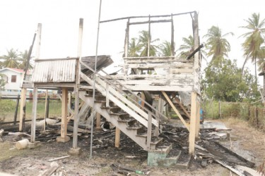 The destroyed family home of Keisha Singh