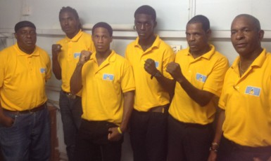 St Lucia's six-member outfit.