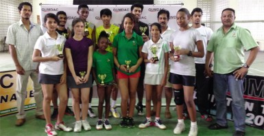 Winners of the just concluded GUMDAC sponsored badminton tournament after the presentation ceremony.