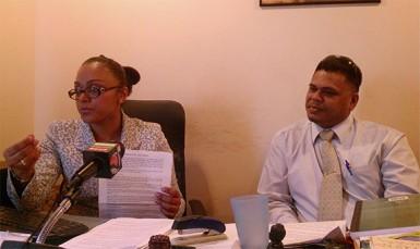 Attorneys Latchmie Rahamat and Joel Edmond