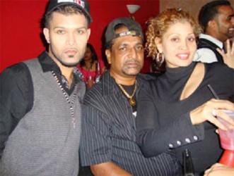 In happier times: (from left to right) Vishnu Persaud, Deokarran 'Ram' Sanasie and Patsy Sanasie
