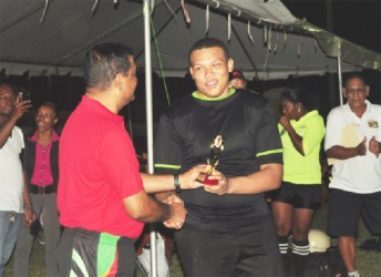 MVP of the tourney, UG's skipper, Rondell McArthur. (Orlando Charles photo)