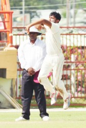 Devendra Bishoo spun webs around the opposition batters yesterday.