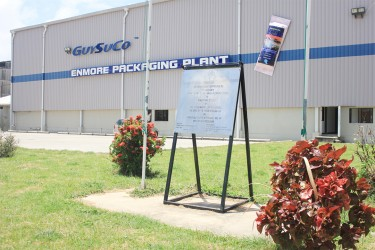 The Enmore Packaging Plant (Stabroek News file photo/Arian  Browne)