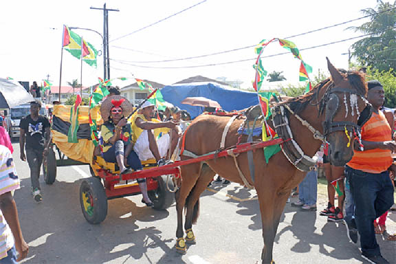 Part of Slingshot's `Guyana get fit' procession