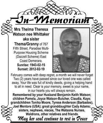 Thelma Watson nee Whittaker aka Sister Thelma/Granny
