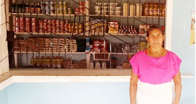 Emelda Sandy at her shop
