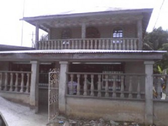 The home where the intruders carried out their attack.