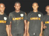 Slingerz FC Strike Squad! (L-R) Clive De Nobrega, Olvis Mitchell, Anthony Abrams and Devon Millington