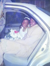 Happier times: Tamika Miller and Andrew Patterson on their wedding day