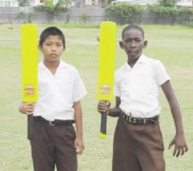 Strathspey's batters Vadim John (left) and Randy Andrews