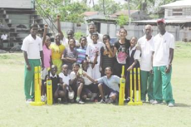 The Enterprise team with the Guyana Cricket Board coordinator.