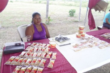 Sonia Sears with some of the peanuts products produced by the Aranaputa Processors Friendly Society recently.