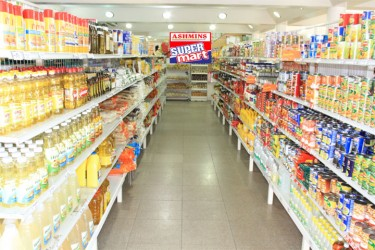 Inside the new Ashmins Trading supermarket