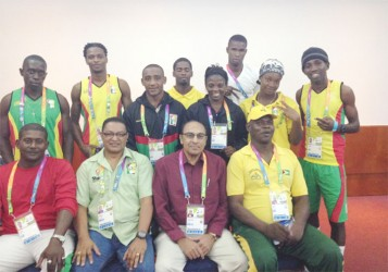 The Guyana contingent at the South American Games. (photo courtesy of Gokarn Ramdhani)