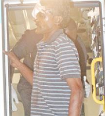 The pilot Bernard Singh