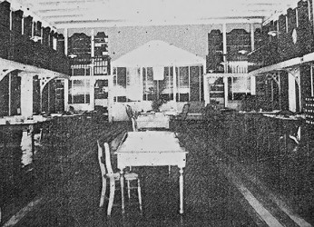 RACS Reading room before it was destroyed by fire in 1945 (Photo from Timehri)