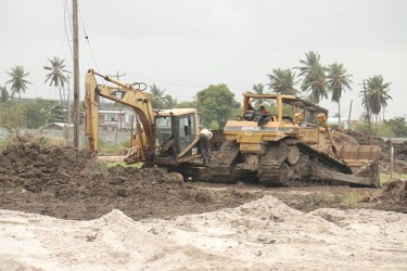 Grubbing work being done by B&K machinery