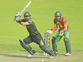 Ahmed Shehzad yesterday became the first batsman from Pakistan to score a T20 century. (Cricket 365 photo)