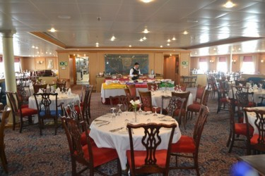 One of the dining areas aboard the MV Minerva (GINA photo)