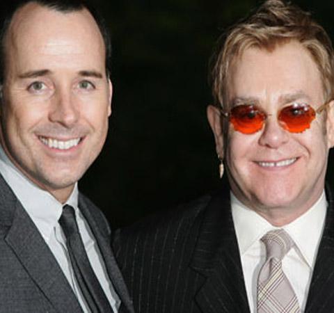 Elton John (right) and David Furnish