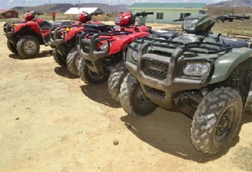 The four ATVs (GINA photo)