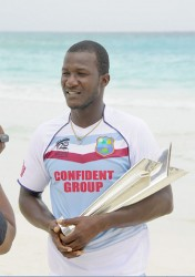 West Indies skipper Darren Sammy wants to be holding the ICC T20 World Cup trophy aloft at the end of the 2014 tournament. (Photo courtesy of WICB media)