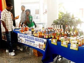 One of the product displays at last Friday's agro-processing forum.
