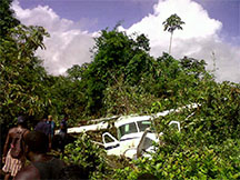Thirteen persons, including the pilot, were injured when this plane crashed at Matthew's Ridge on July 15, last year.