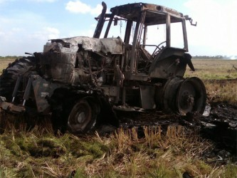 The remains of the tractor