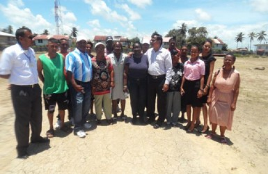 Berbice Regional Health Authority and Whim health and community officials at a recent health facility monitoring exercise