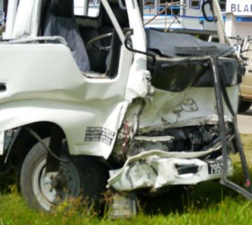 The Canter truck that was involved in the accident