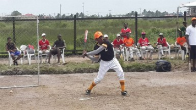 A future baseball star in action.