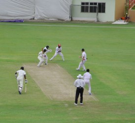 Leon Johnson cuts through the point area during his top score of 78