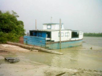 The MV Epira, which was used to transport residents to Corriverton, is no longer functional.